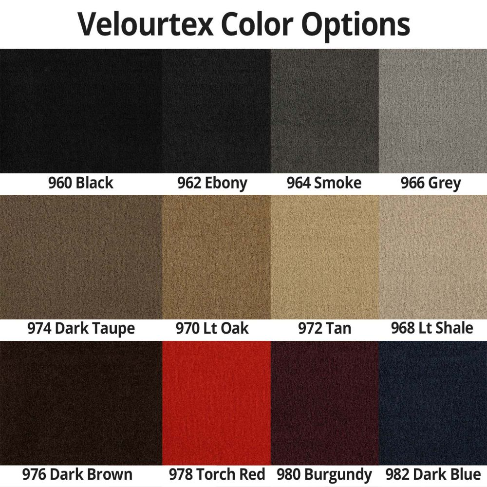 Lloyd Mats ® - Velourtex Black Standard Trunk Mat For Cadillac with Gold Cadillac Script Applique
