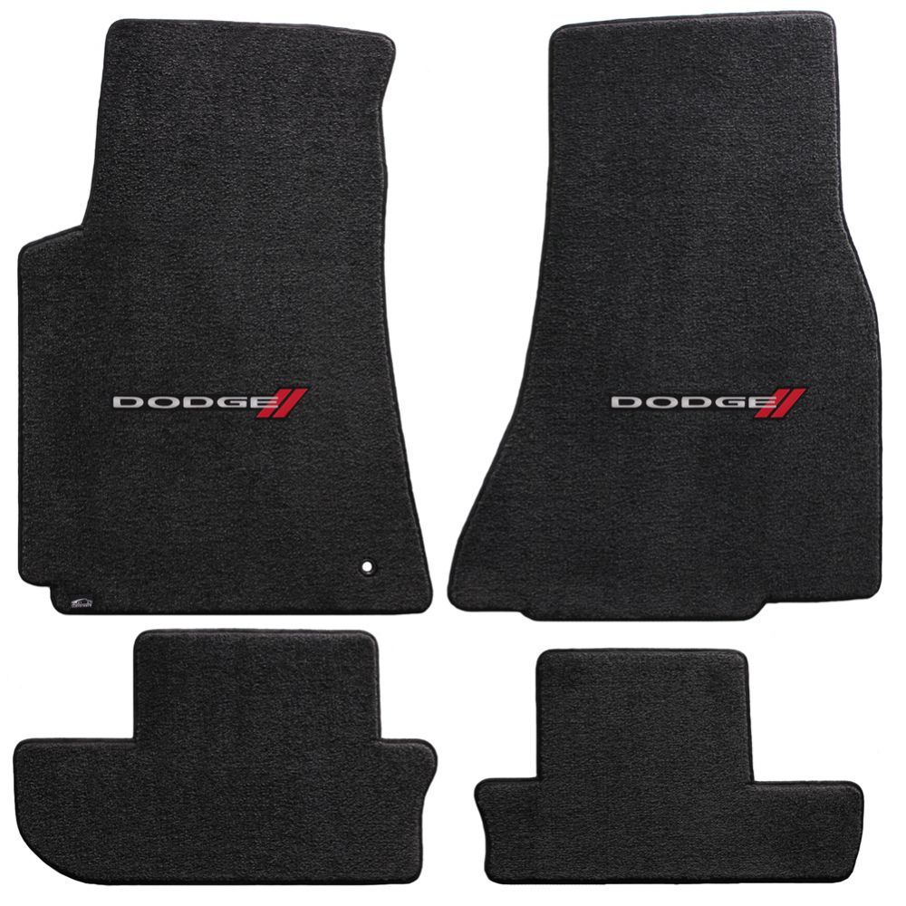 Lloyd ® - Ultimat™ Ebony Custom 4PC Floor Mats With Dodge Logo (600025)