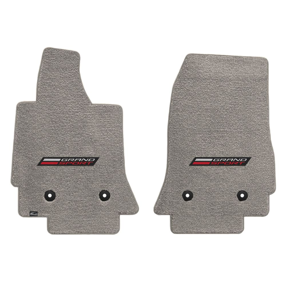 Lloyd ® - Ultimat™ Grey Custom Front Floor Mats With Silver and Red Grand Sport Logo (600301)