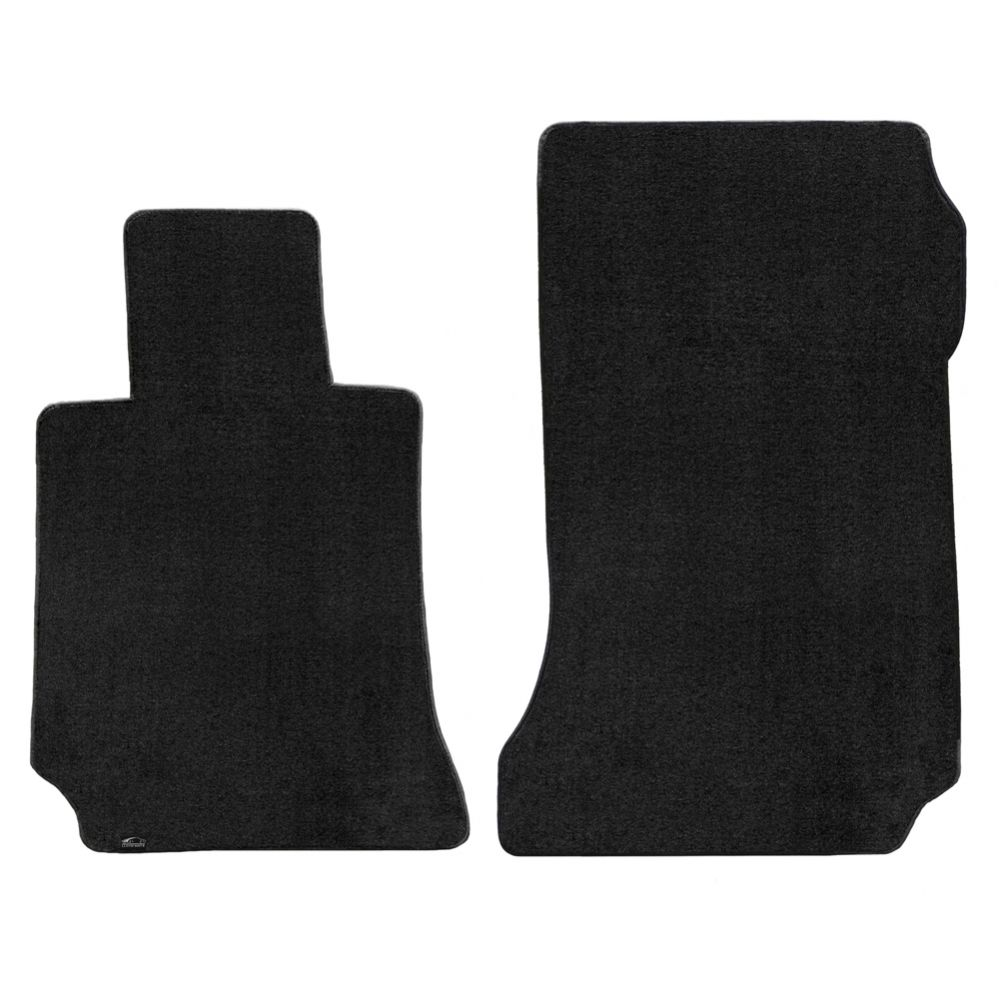 Lloyd ® - Velourtex™ Black Plain Custom Front Floor Mats (620110)