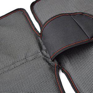 CarVam Black Waterproof Thick Premium Car Seat Protector With 2 Mesh Storage Pockets CVVAMOS, Back