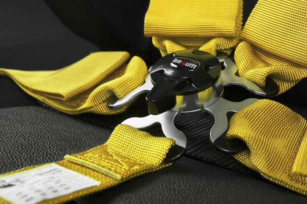 Braum Yellow 5 Point 3 Inch SFI 16.1 Racing Harness BRH-YLS5, Additional image 3