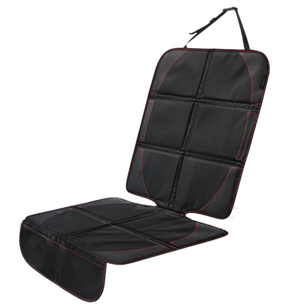 CarVam ® - Black Waterproof Thick Premium Car Seat Protector With 2 Mesh Storage Pockets (CVVAMOS)