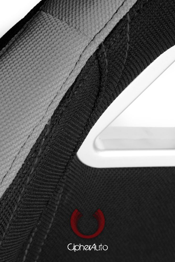 Cipher Auto ® - Gray and Black Cloth Universal Racing Seats (CPA1018FGYBK)