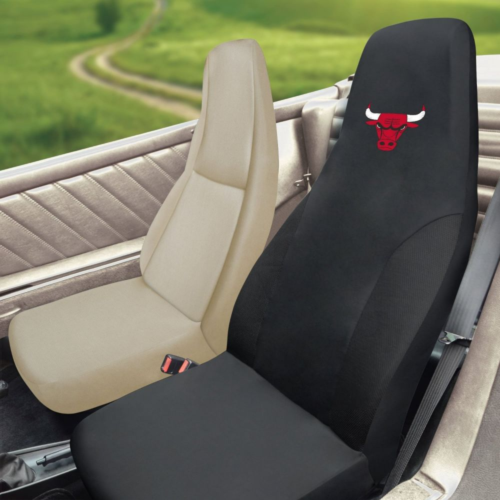 Fanmats NBA Chicago Bulls Universal Seat Cover, Inside Car