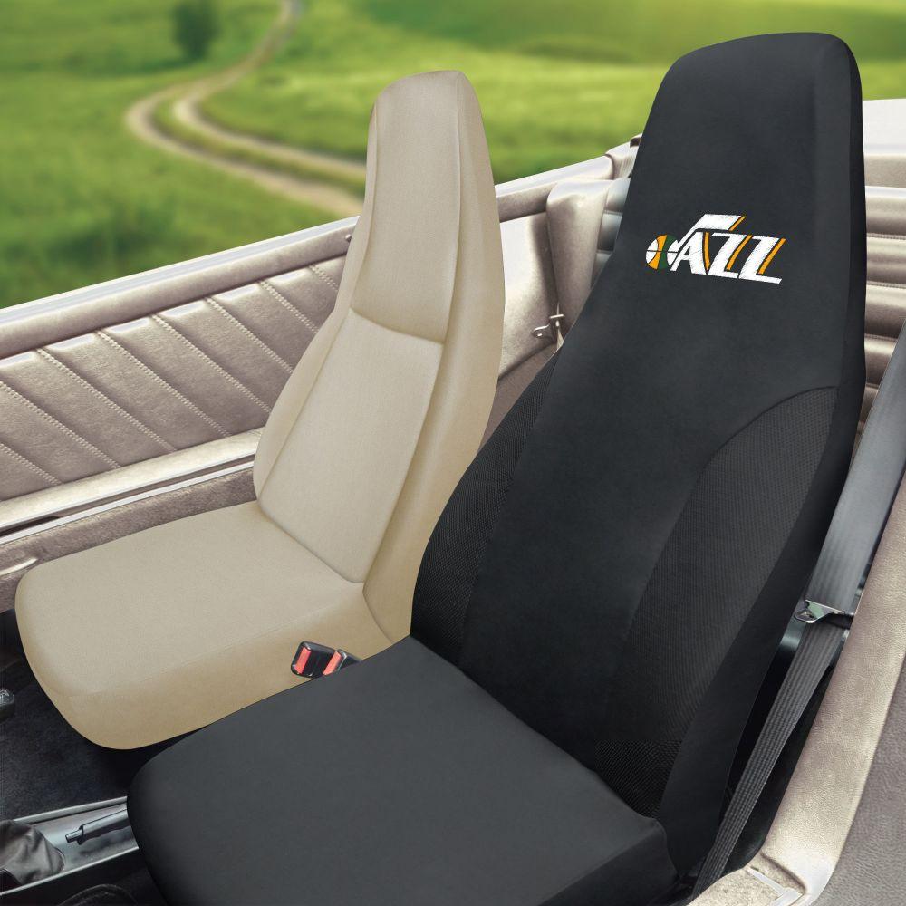 Fanmats NBA Utah Jazz Universal Seat Cover, Inside Car
