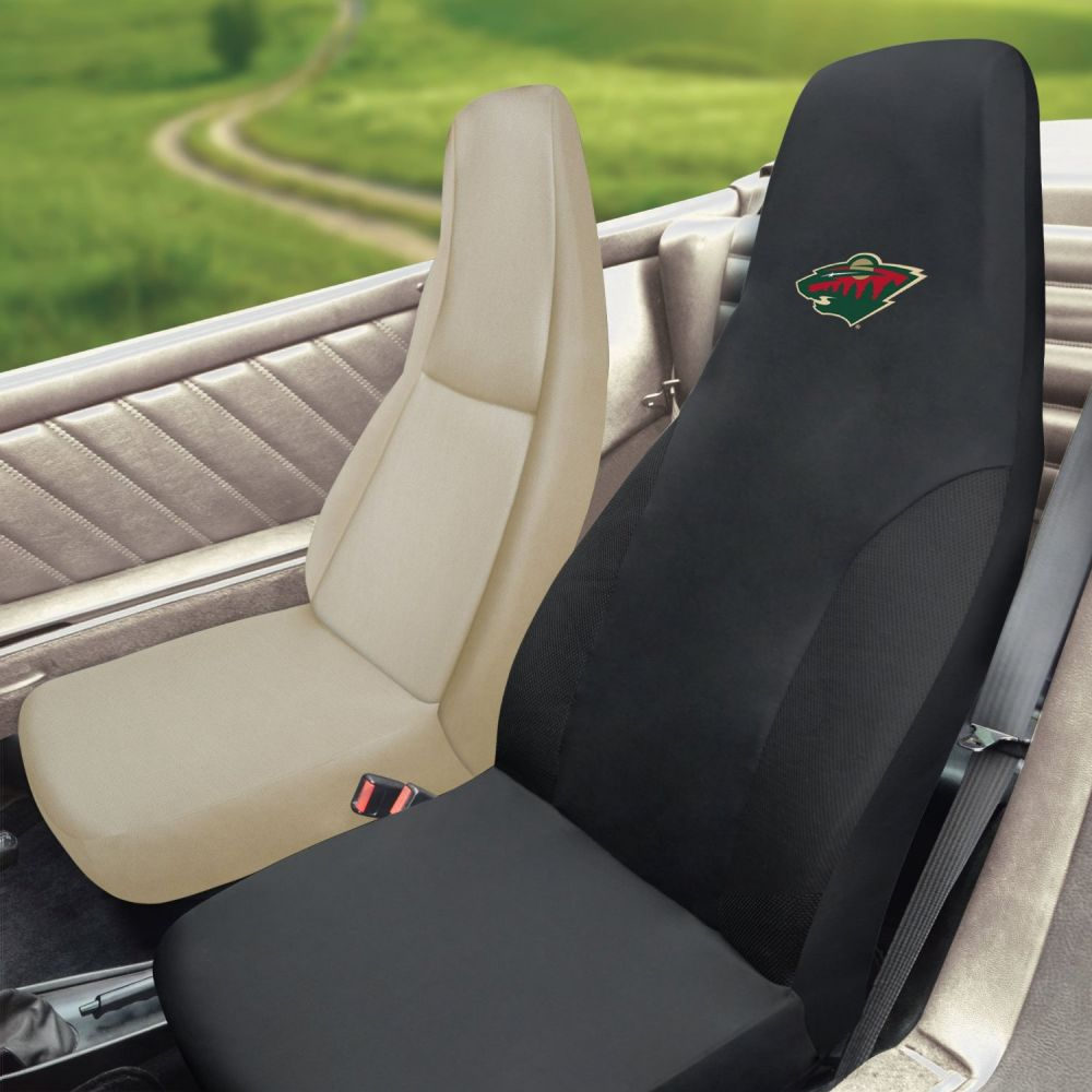 Fanmats NHL Minnesota Wild Universal Seat Cover, Inside Car