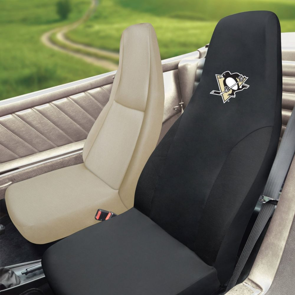 Fanmats NHL Pittsburgh Penguins Universal Seat Cover, Inside Car