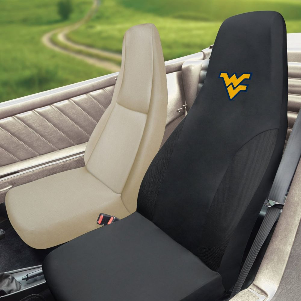 Fanmats West Virginia University Universal Seat Cover, Inside Car