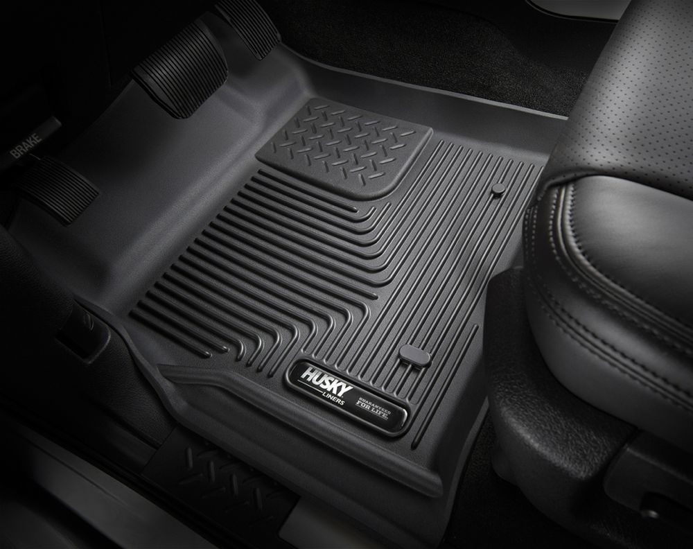 Husky Liners X-act Contour Black Custom Front Floor Liners, In-situation Image 1