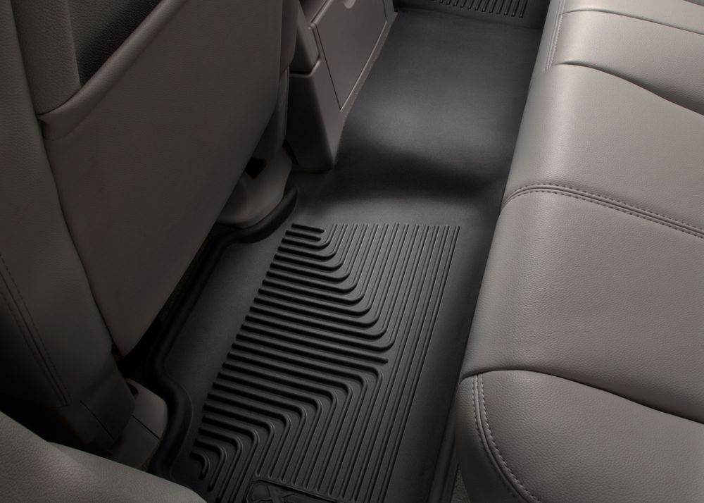 Husky Liners X-act Contour Black Custom Full Coverage 2nd Seat Floor Liner, In-situation Image 1