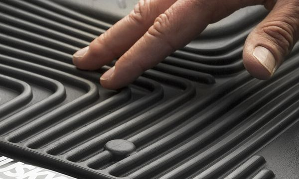 Husky Liners X-act Contour Black Custom Full Coverage 2nd Seat Floor Liner, Soft and strong
