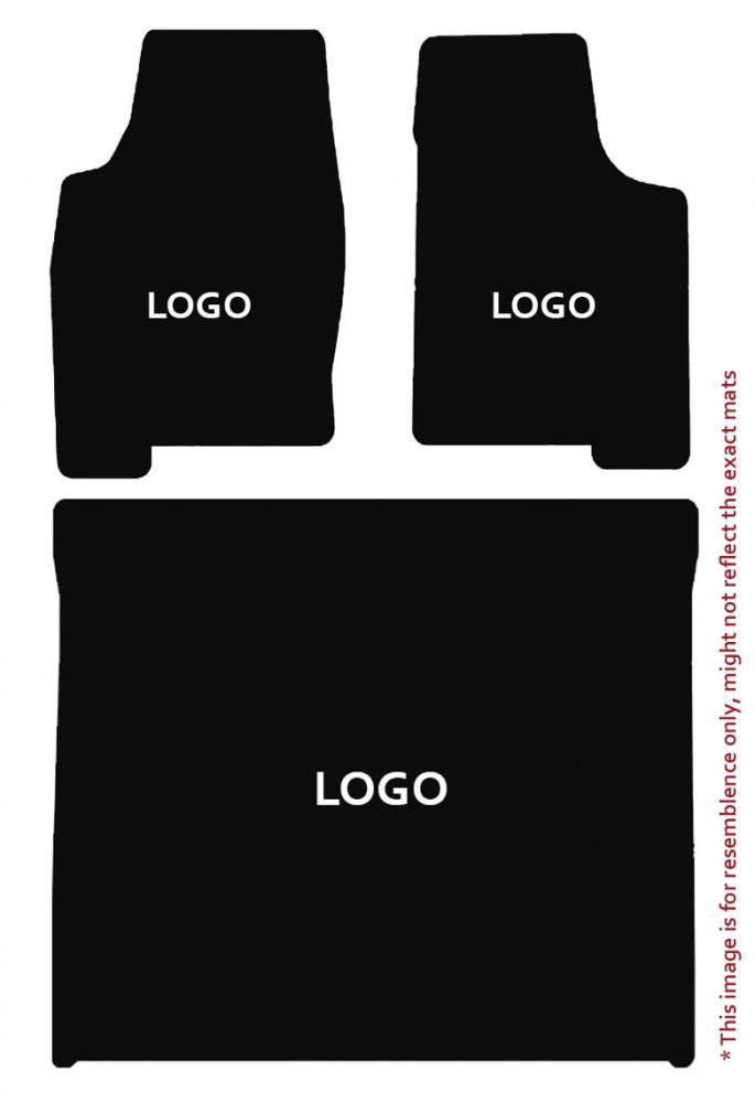 Lloyd Mats Velourtex Black 3PC Floor Mats For Cadillac, Mats illustration