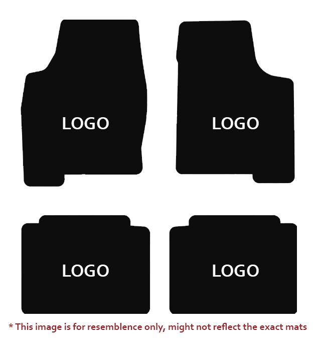 Lloyd Mats Velourtex Black 4PC Floor Mats For Cadillac, Mats illustration