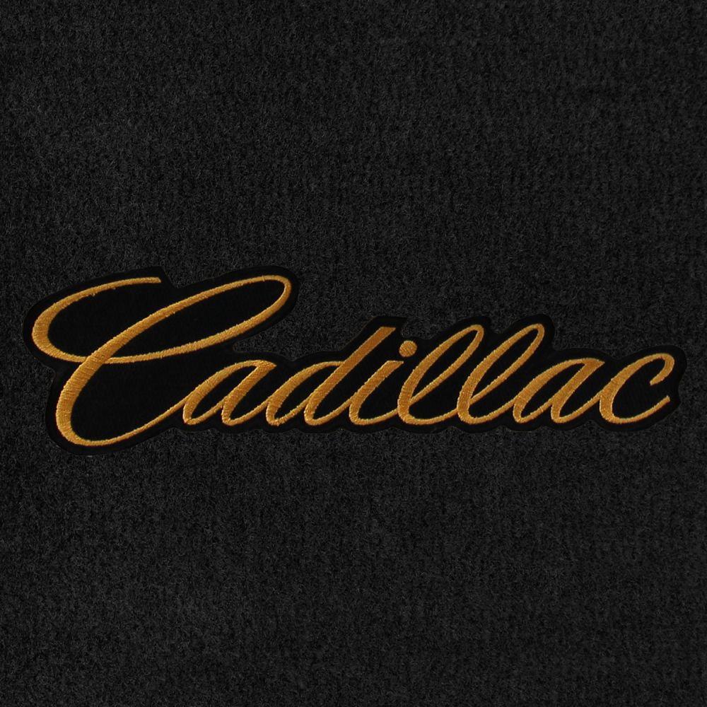Lloyd Mats Velourtex Black Front Floor Mats For Cadillac, Logo