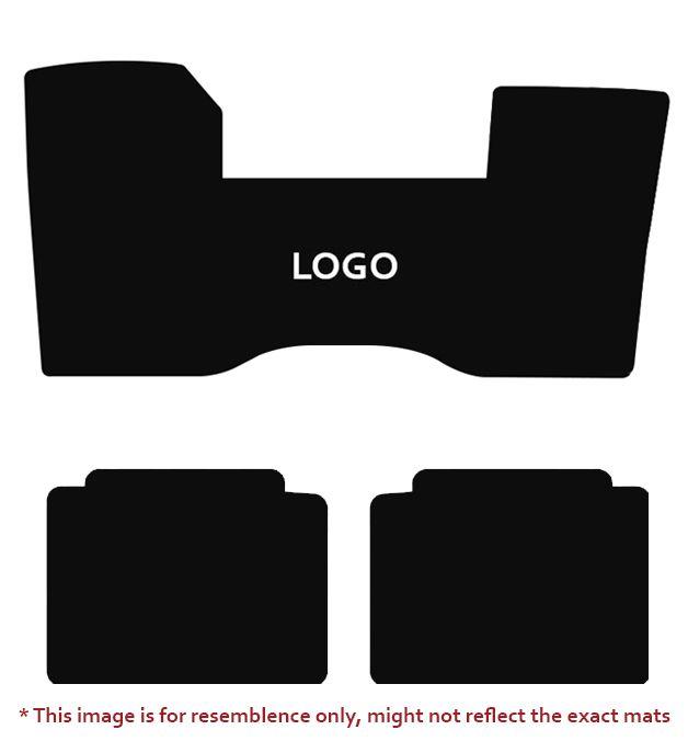 Lloyd Mats Velourtex Grey 1PC Front and 2PC Rear Floor Mats For Cadillac, Mats illustration