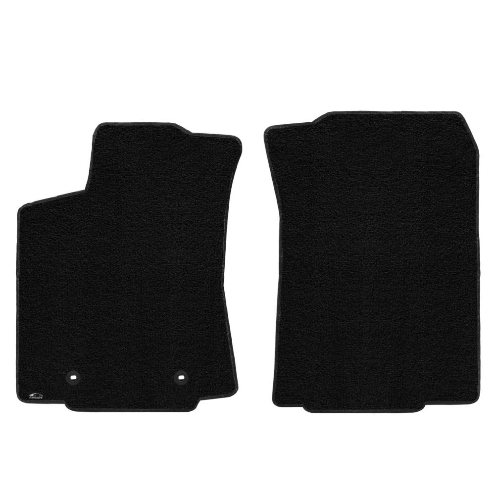 Lloyd ® - Ultimat™ Black Plain Custom Front Floor Mats (600186)