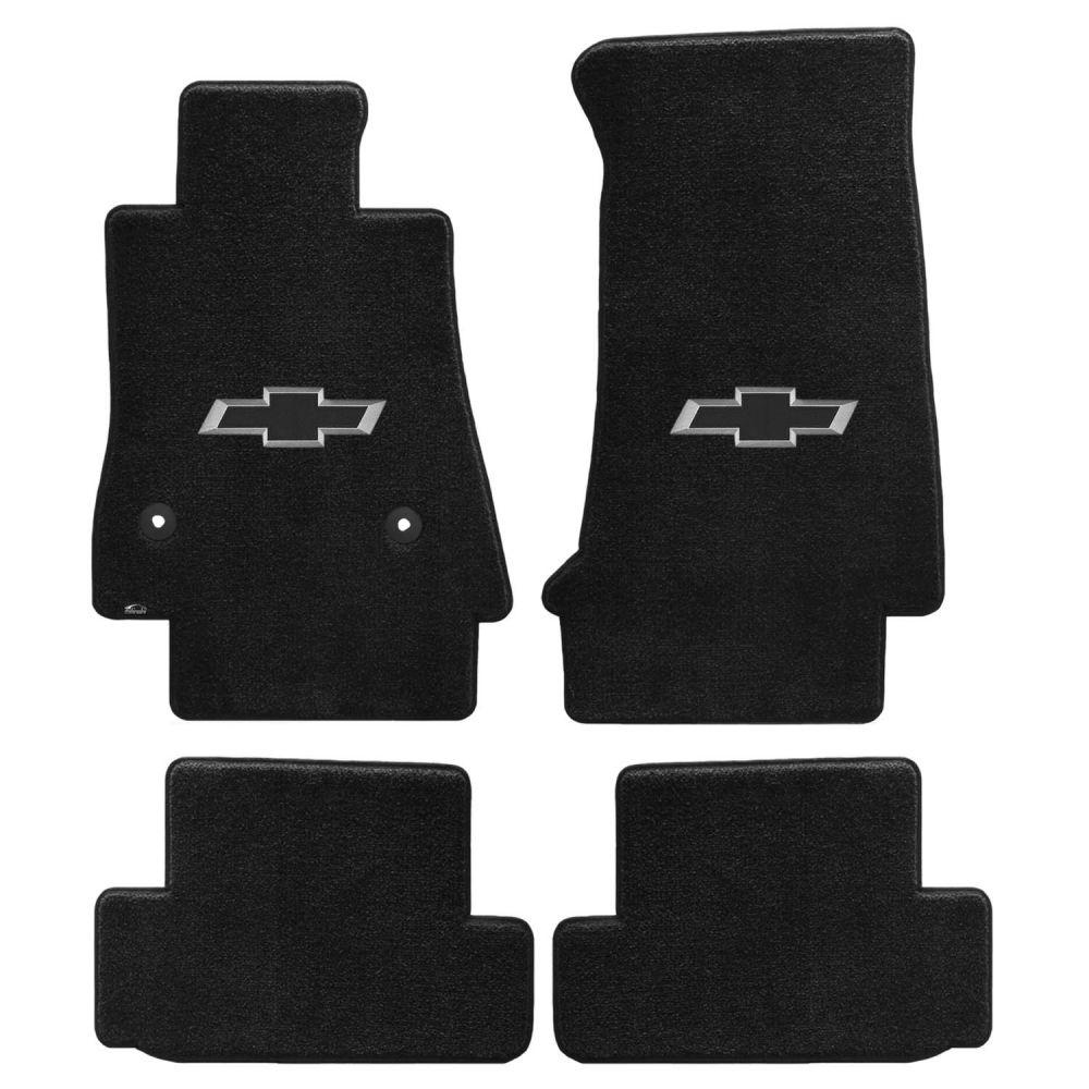 Lloyd ® - Ultimat™ Ebony Custom 4PC Floor Mats With Black 3D Bowtie Logo (600156)