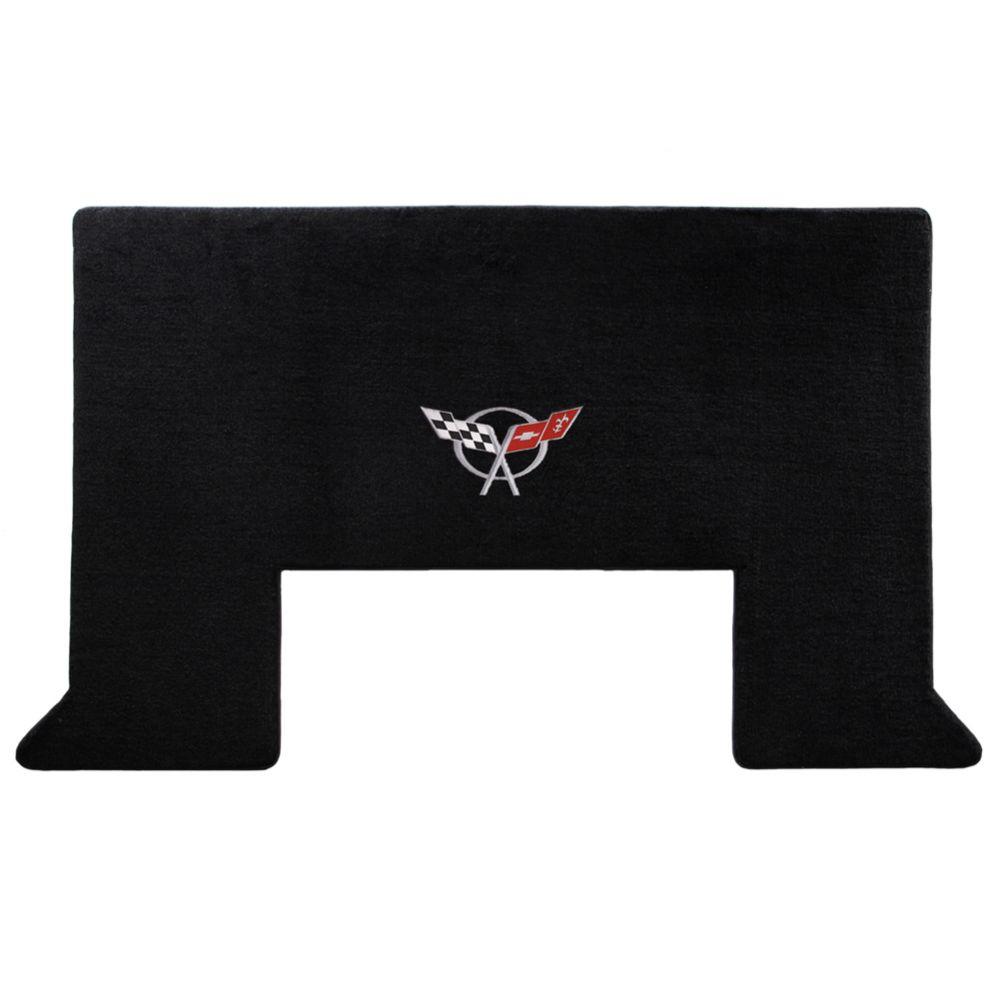 Lloyd ® - Velourtex™ Black Custom Cargo Mat With Silver C5 Flags Logo (620020)