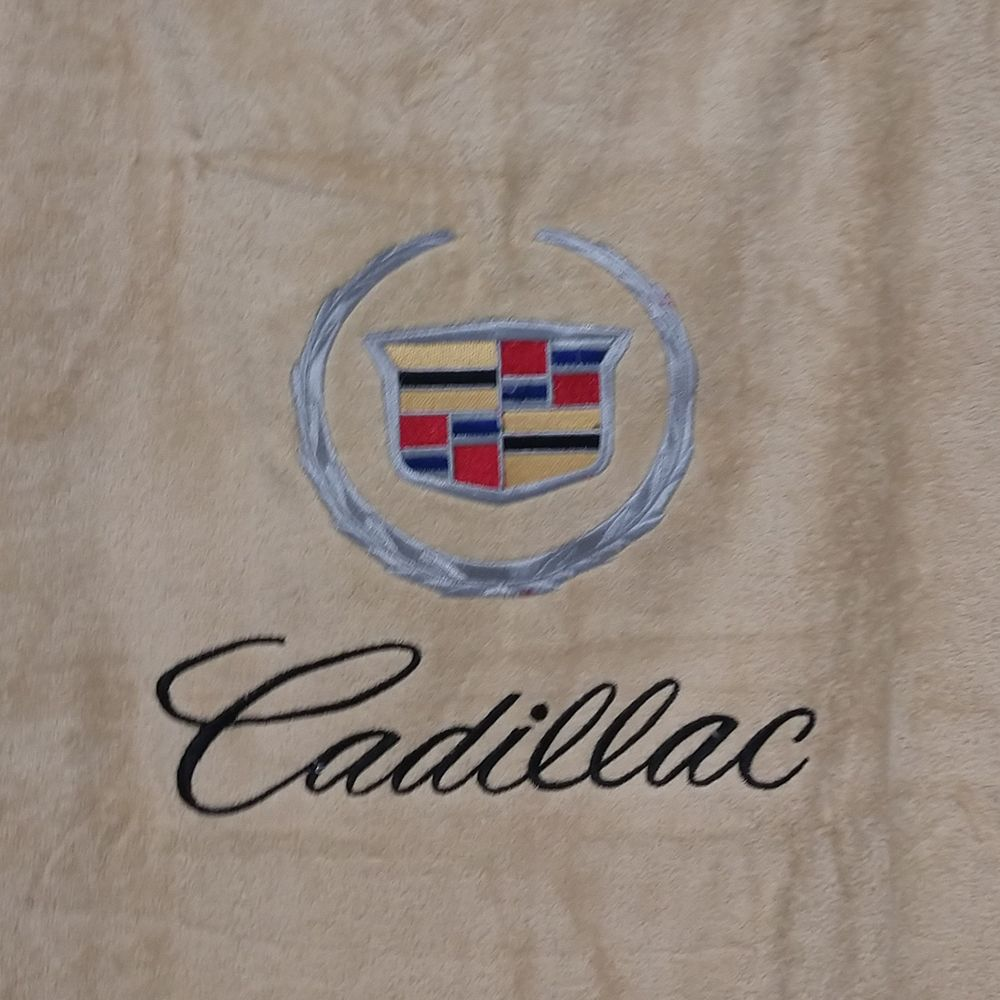 Seat Armour ® - Tan Towel Seat Covers with Cadillac Crest and Script (SA100CADT)