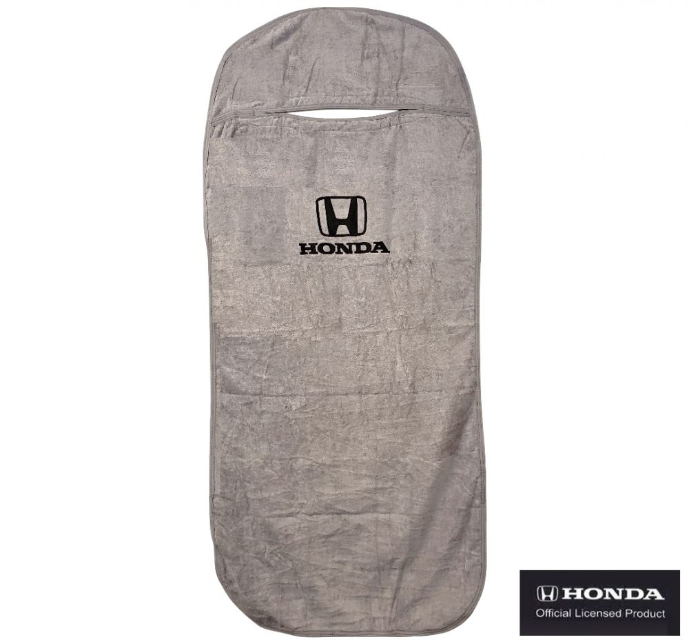 Seat Armour ® - Grey Towel Seat Cover with Honda Logo (SA100HONG)
