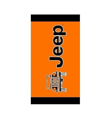 Seat Armour Orange Towel 2 GO Seat Cover with Jeep Wrangler Logo T2G100OR