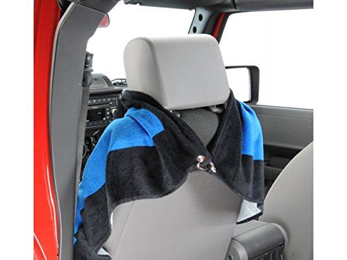 Seat Armour Pair of Blue Towel 2 GO Seat Covers with Jeep Wrangler Logo, Back View