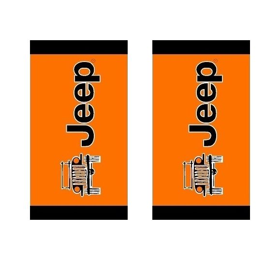Seat Armour Pair of Orange Towel 2 GO Seat Covers with Jeep Wrangler Logo (T2G100OR)