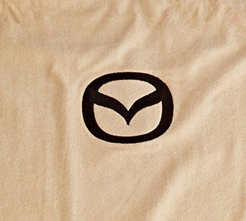 Seat Armour Pair of Tan Towel Seat Covers with Mazda Logo, The Logo