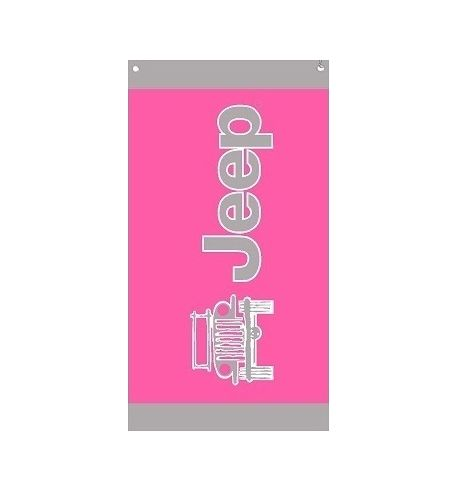 Seat Armour Pink Towel 2 GO Seat Cover with Jeep Wrangler Logo T2G100PINK