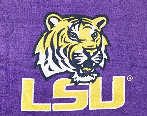 Seat Armour Purple Towel Seat Cover with NCAA Louisiana University Logo - Logo