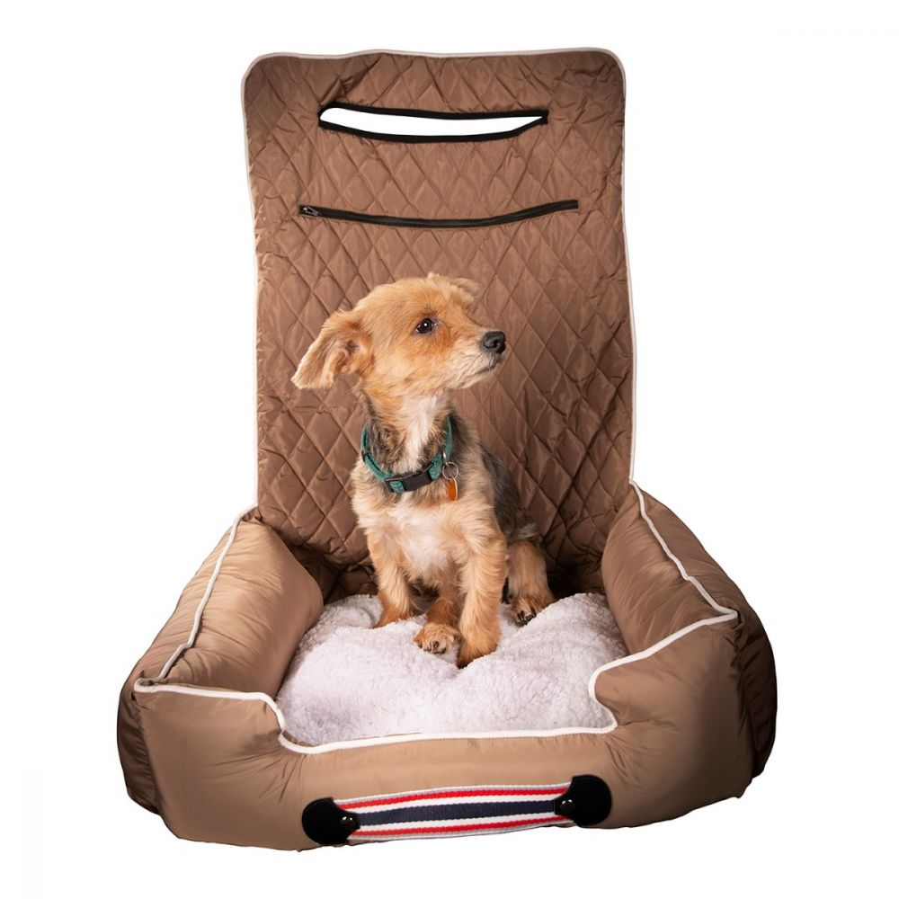 Seat Armour ® - Tan PetBed2GO 2 in 1 Pet Bed Cushion And Waterproof Car Seat Protector (PET2G100T)