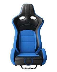 Cipher Auto ® - Blue with Black Carbon PU Universal VP-8 Racing Seats (CPA2003CFBKBU)