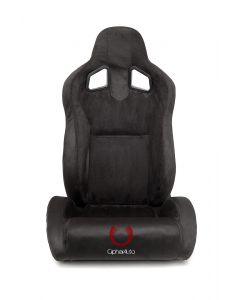 Cipher Auto Pair of Black Microsuede Universal Racing Seats (CPA1039SDBK), Front View