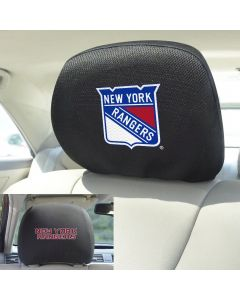 Fanmats ® - Pair of NHL New York Rangers Universal Headrest Covers (17172)
