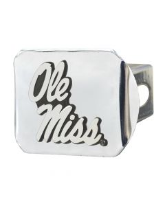 Fanmats ® - University of Mississippi Ole Miss Chromed Metal Hitch Cover (19243)