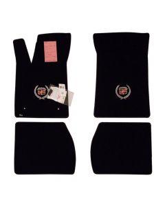 Lloyd Mats ® - Velourtex Black 4PC Floor Mats For Cadillac Seville with Silver Cadillac Crest Applique (Open Box)