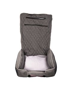 Seat Armour ® - Grey PetBed2GO 2 in 1 Pet Bed Cushion And Waterproof Car Seat Protector (PET2G100G)