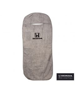Seat Armour Grey Towel Seat Cover with Honda Logo - Front-Right View