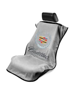 Seat Armour Grey Towel Seat Covers with Cadillac Crest and Script